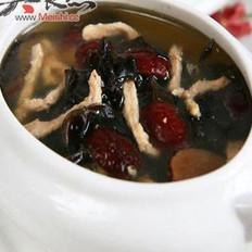 黑木耳红枣瘦肉汤