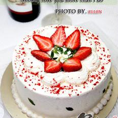 草莓戚风奶油蛋糕