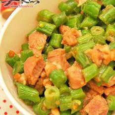 刀豆炒肉丁