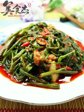 马来风光-辣炒空心菜的做法