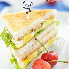 素食早餐三明治