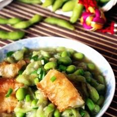 丝瓜毛豆烩油条