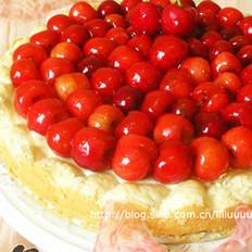 樱桃马卡龙慕斯蛋糕派