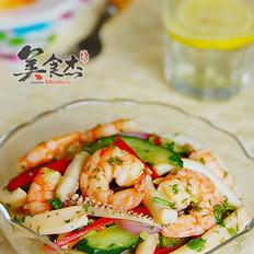 海虾鱿鱼杂拌