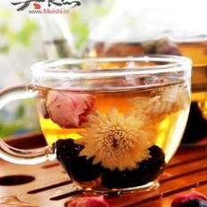 玫瑰乌梅菊花茶