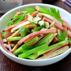 芹菜火腿拌香干