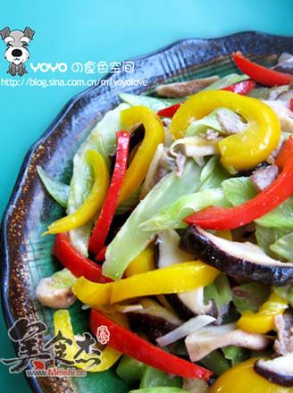 缤纷蔬菜炒香菇的做法
