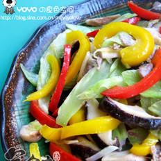 繽紛蔬菜炒香菇