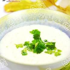 绿豆糯米奶粥