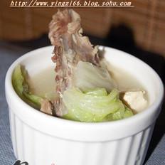 白菜豆腐鸭架汤