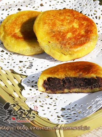 豆沙红薯饼的做法