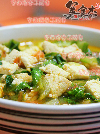 小白菜炖豆腐的做法