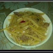 沙茶酱鸡肉土豆丝