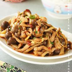 真姬菇炒肉丝