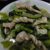 鱼鳔炒春菜