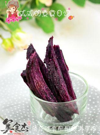 奶香紫薯干的做法