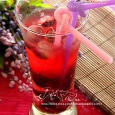 红情杨梅玫瑰冰茶