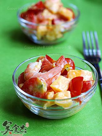 芒果虾仁沙拉的做法
