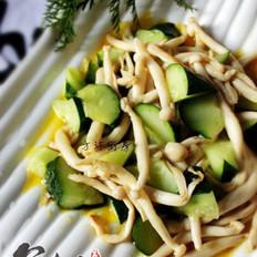 黄瓜炒海鲜菇