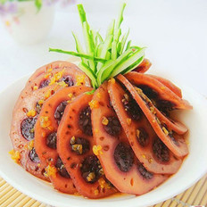 桂花紫米藕
