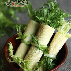 苦菊干豆腐卷