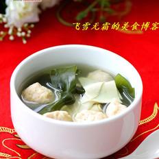 三文鱼圆海带汤