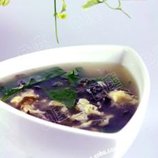 紫菜木耳菜蛋花汤
