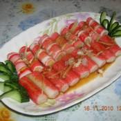 清蒸蟹柳肉