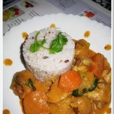 泰式红咖喱鸡伴饭
