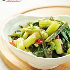凉拌红菜苔