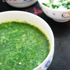 米汤荠菜滑的做法