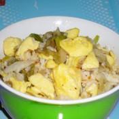 辣白菜鸡蛋炒饭