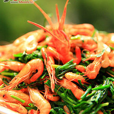 小河虾炒韭菜