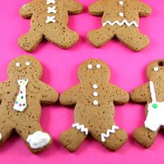 圣诞节:姜饼娃娃和姜饼屋