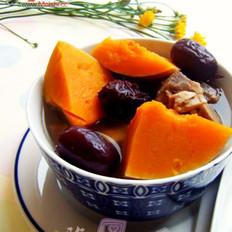 南瓜红枣排骨汤