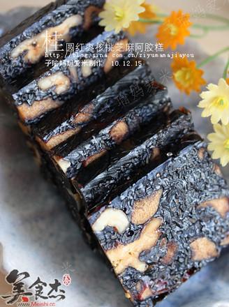 桂圆核桃芝麻红枣阿胶膏