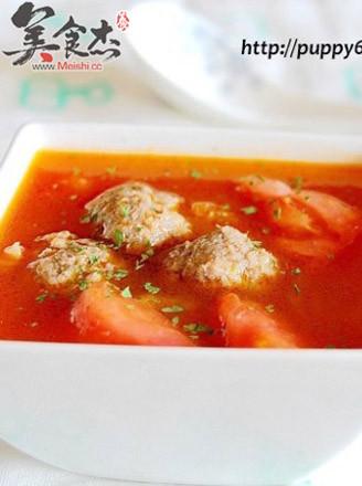 番茄牛丸汤的做法