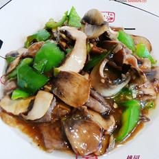 蚝油口蘑滑肉片