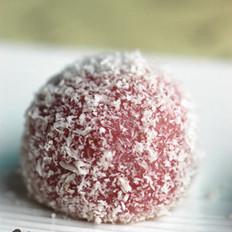 草莓椰蓉汤圆