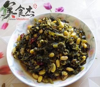 黄豆炒雪菜