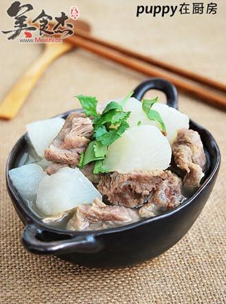 砂锅萝卜炖牛腩的做法