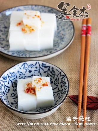 杏仁牛奶豆腐