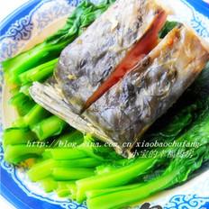 青菜蒸咸鱼