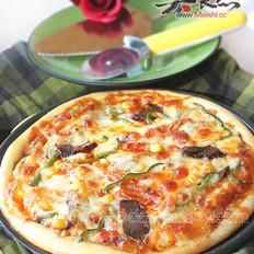 韩式辣酱牛肉泡菜比萨