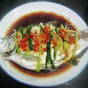 清蒸辣味鳊鱼