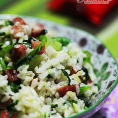 猪排青菜炒饭