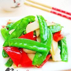 杏鲍菇炒荷兰豆