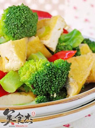 西蘭花油豆腐