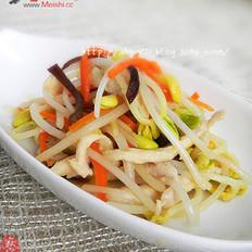 黄豆芽炒鸡丝