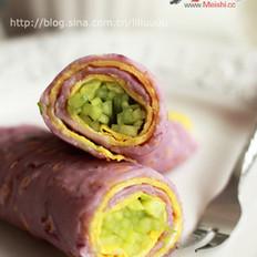 紫薯鸡蛋卷饼